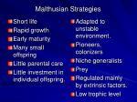 malthusian strategies