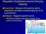 population oscillations around carrying capacity