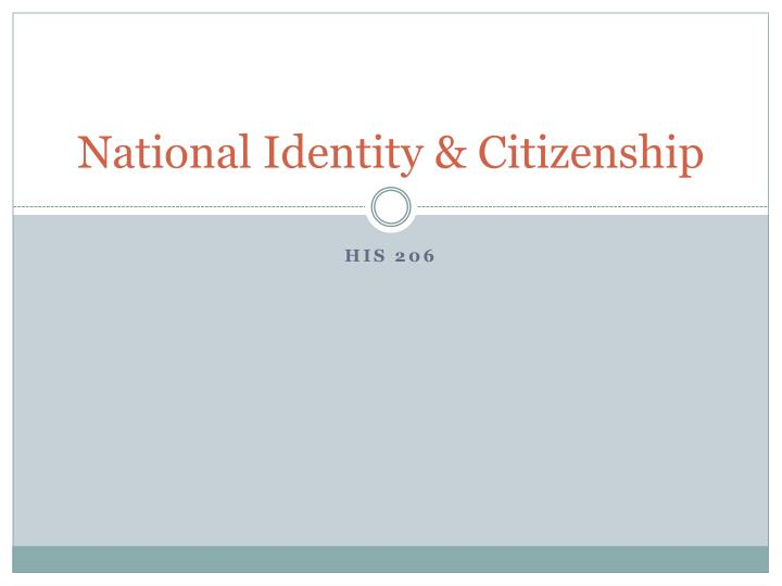 national identity citizenship n.