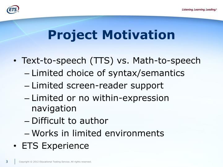 Project motivation