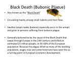 black death bubonic plague