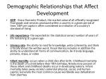demographic relationships that affect development