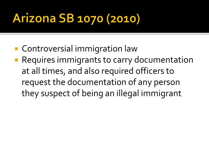 Arizona SB 1070 (2010