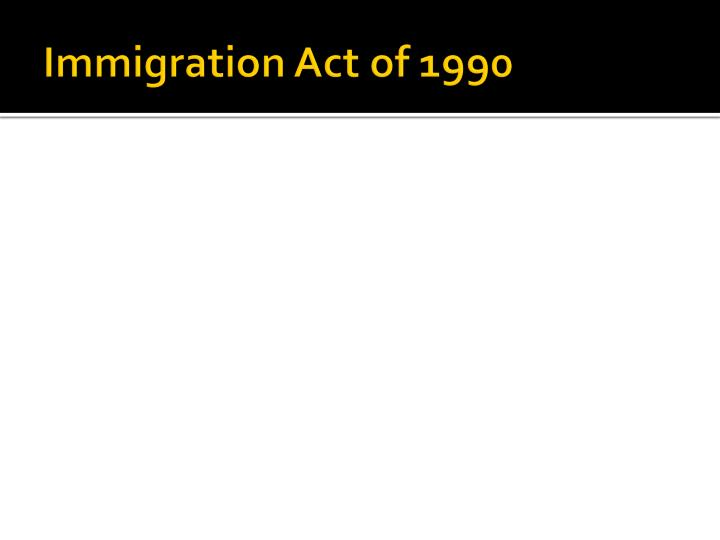 Immigration Act of