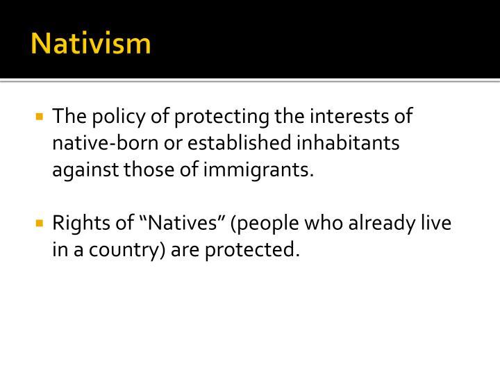 Nativism1