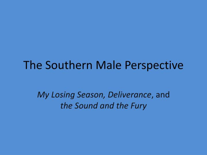the southern male perspective n.