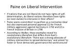 paine on liberal intervention
