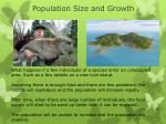 population size and growth