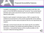 proposed accessibility features
