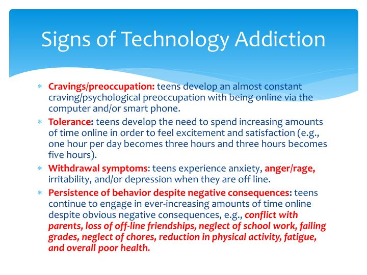 technology addiction essay Technology addiction - 1 submitted by: alittlecrazy94 the technological phenomenon has become concretely prominent these last five years in such a way it has developed a new behavioral.