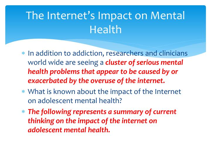 internet addiction and mental health pdf