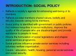 introduction social policy