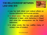 the relationship between law and shs