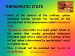 therapeutic state