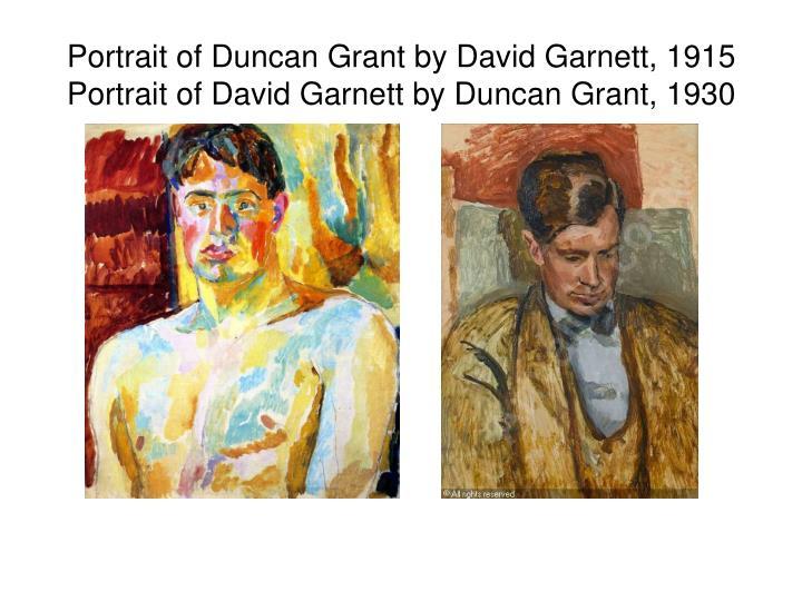 Portrait of Duncan Grant by David Garnett, 1915