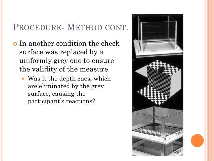 Procedure- Method cont.