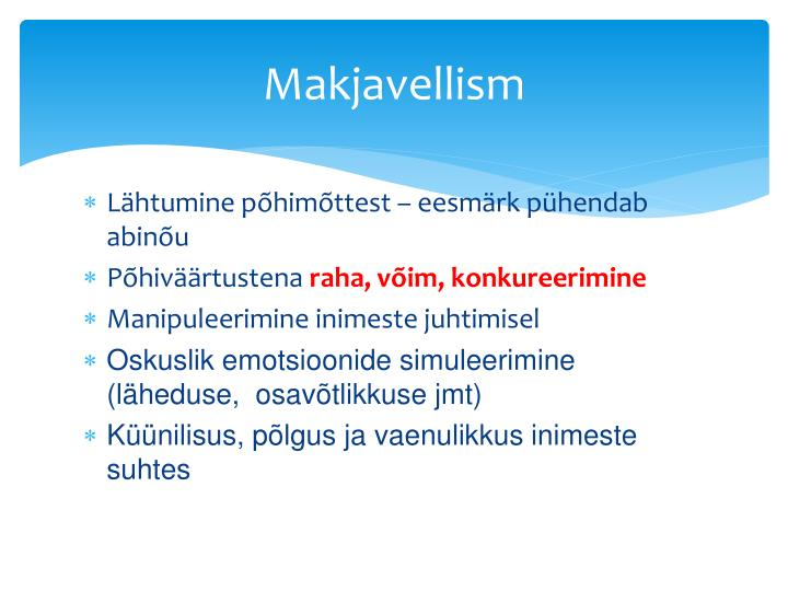 Makjavellism