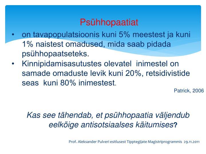 Psühhopaatiat