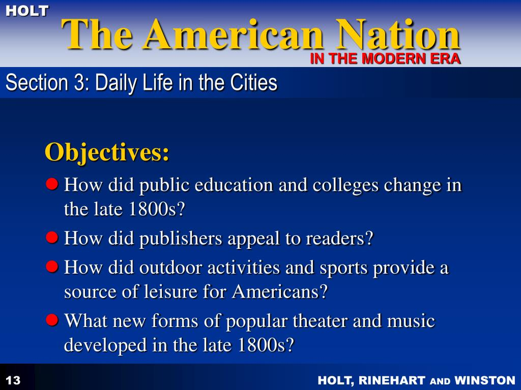 PPT - CHAPTER 7 THE TRANSFORMATION OF AMERICAN SOCIETY