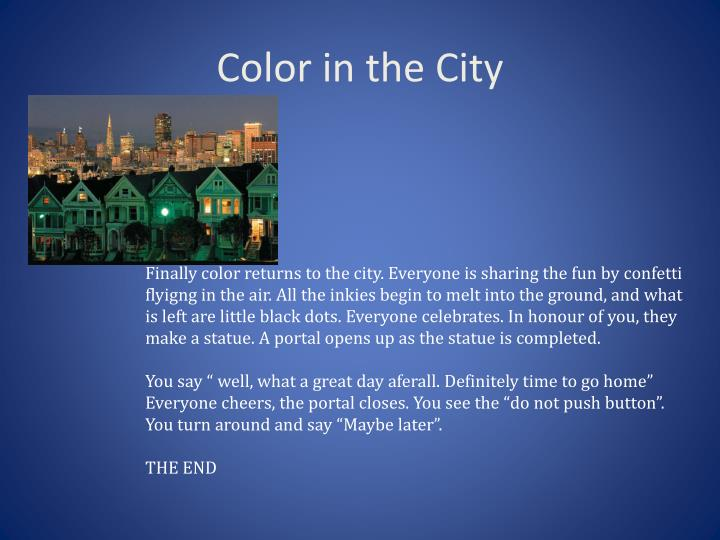 Color in the City