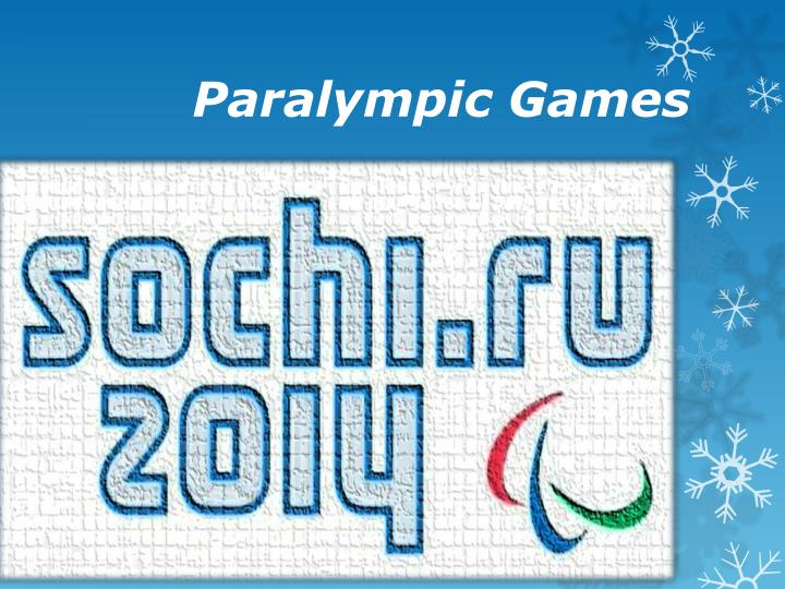 paralympic games n.