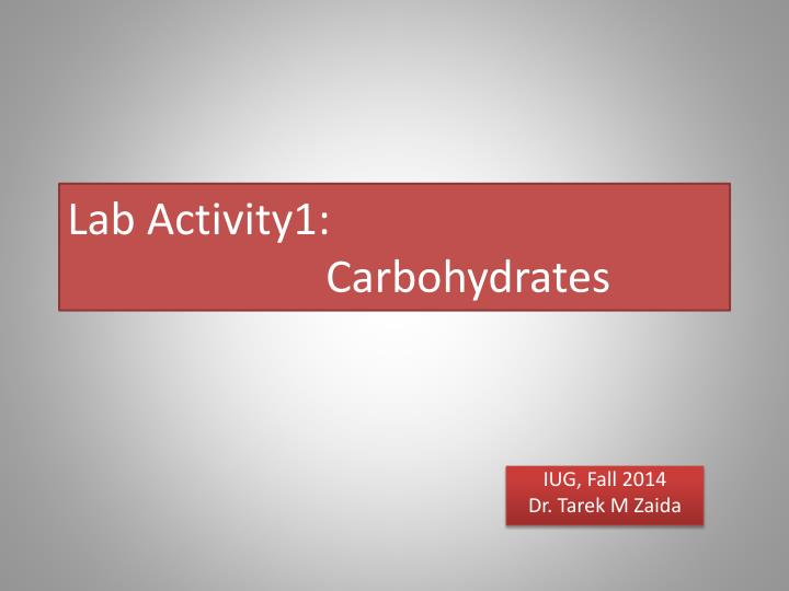 lab 1 carbohydrates bch2333 Expt 2 lab report extraction and characterization of proteins group 2  isolation and characterization of carbohydrates isolation and characterization of proteins  documents similar to report in nucleic acid[1] isolation and characterization of onion's dna uploaded by.