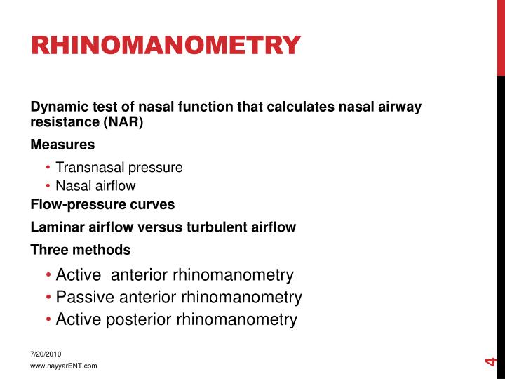 Rhinomanometry