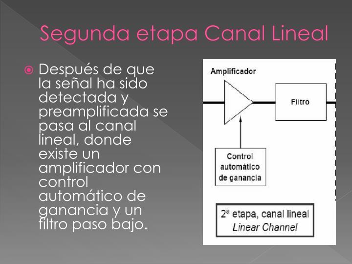Segunda etapa Canal Lineal
