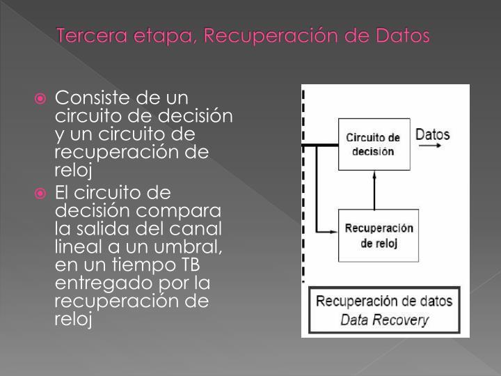 Tercera etapa, Recuperación de Datos