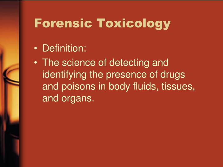 Forensic toxicology1
