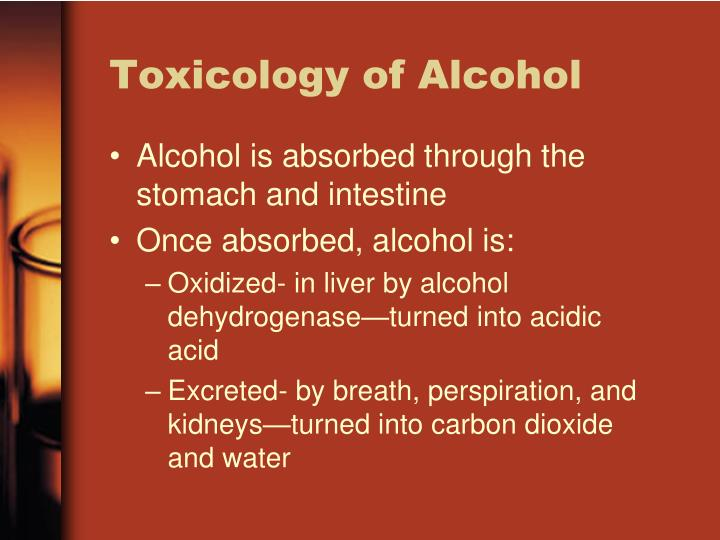 Toxicology of Alcohol