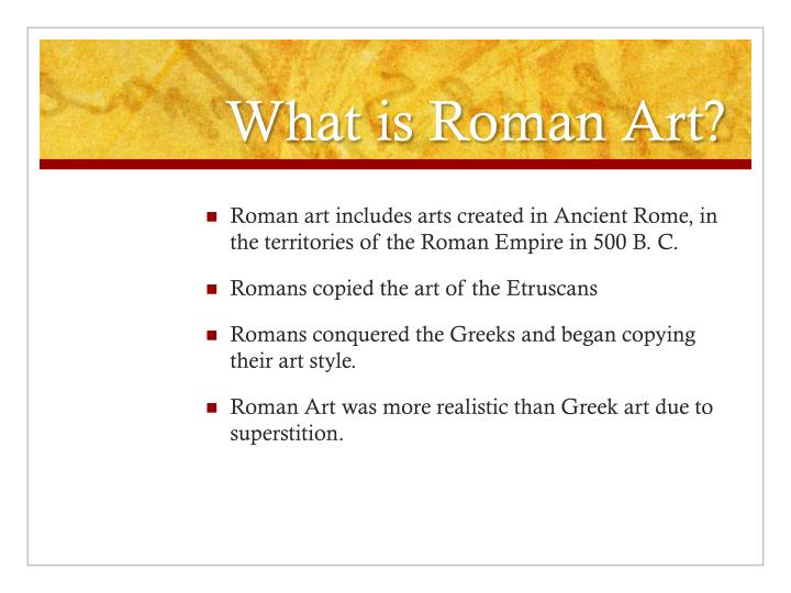 What is Roman Art?