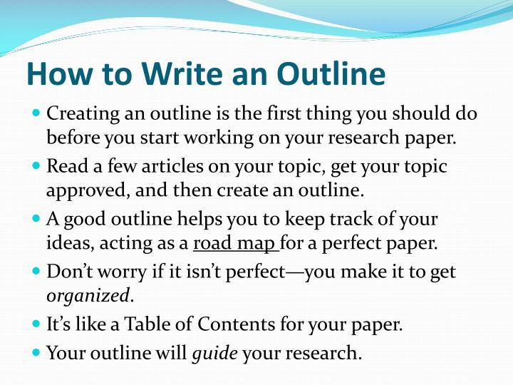 Getting started on research paper
