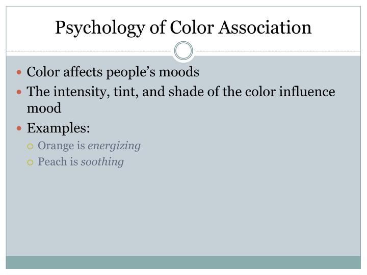 Psychology of color association
