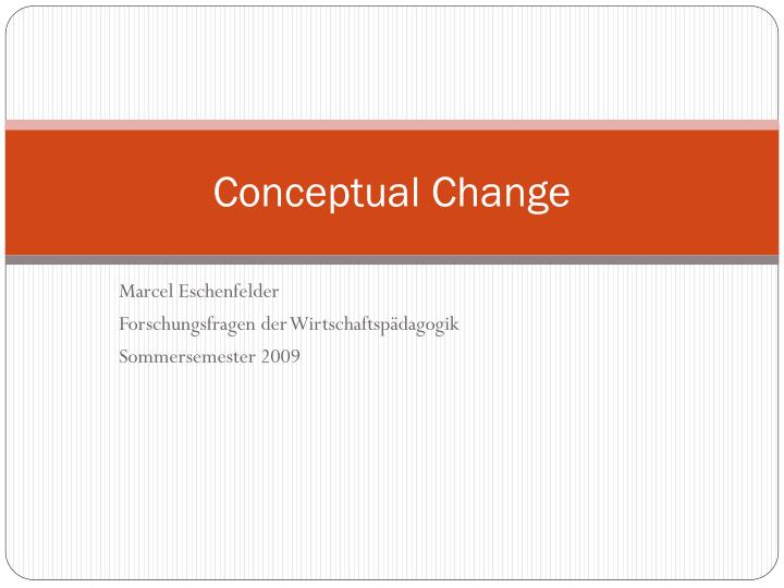 conceptual change definition
