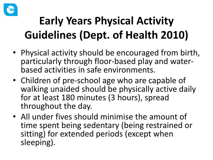 acting on the national physical activity guidelines • the 2008 physical activity guidelines for americans published by the us department of health and human services (hhs) were designed to provide information and guidance on the types and amounts of physical activity that provide substantial health benefits for americans aged 6 years and older.