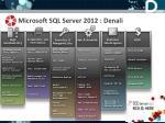 microsoft sql server 2012 denali