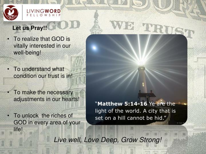 Let us Pray!!
