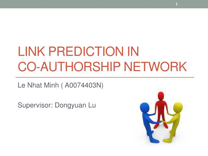 link prediction in co authorship network n.