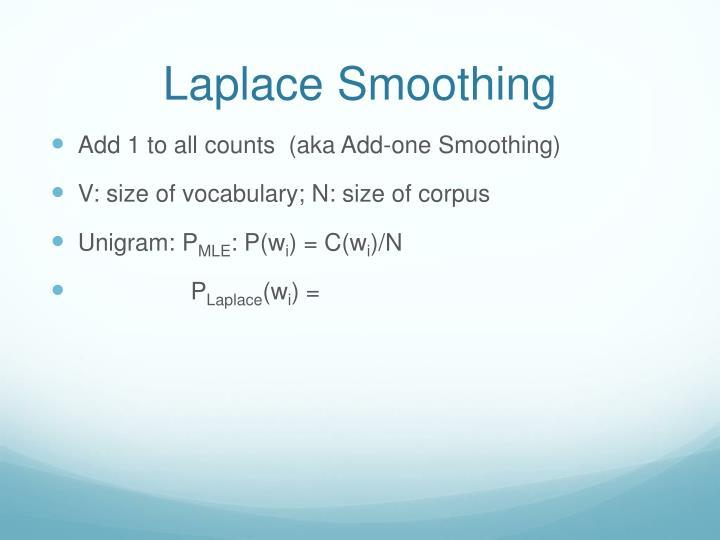 Laplace Smoothing