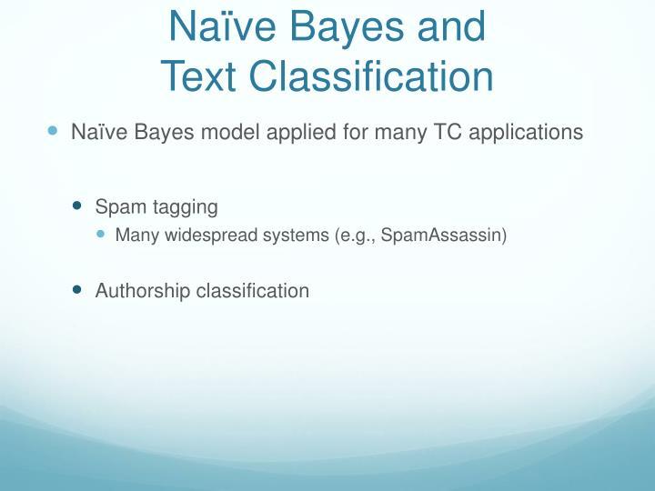 Naïve Bayes and