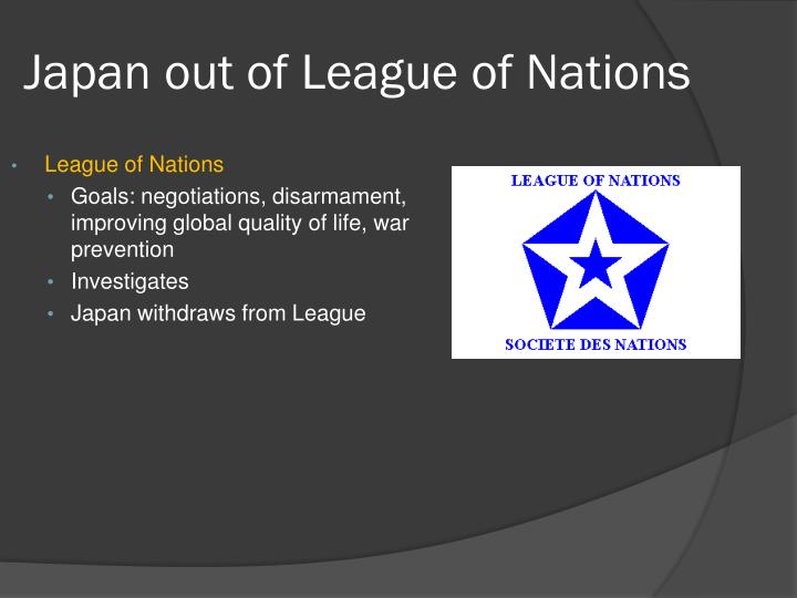 Japan out of League of Nations