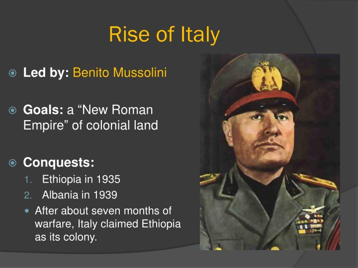 Rise of Italy