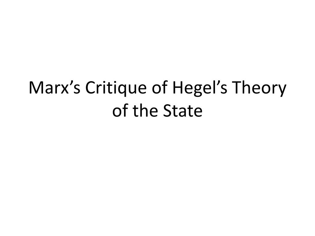 hegel theory of state