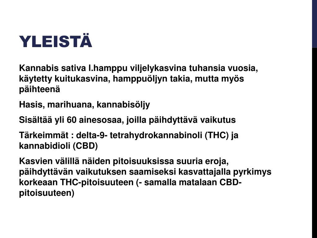 Kannabisöljy Vaikutus