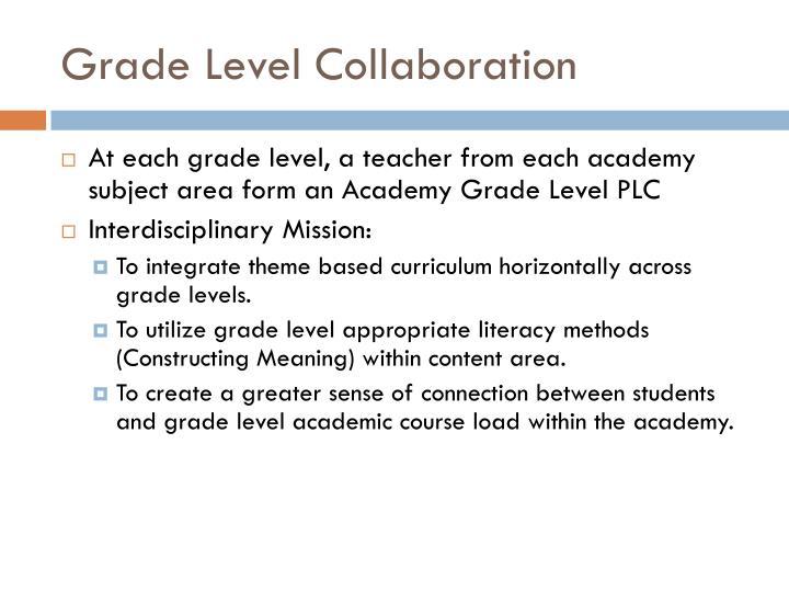 Grade Level Collaboration