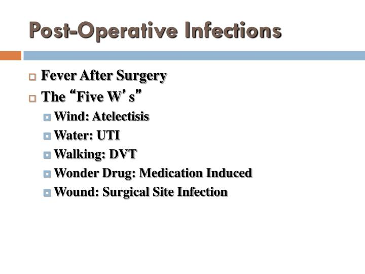 Post-Operative Infections