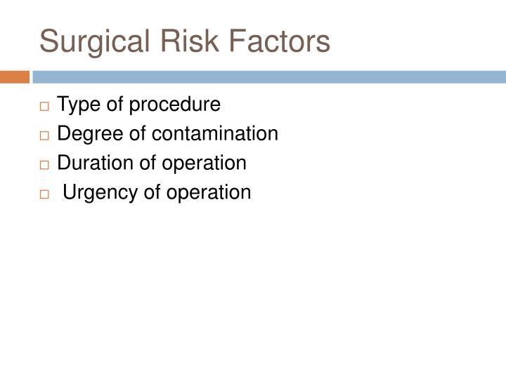 Surgical Risk Factors