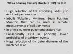 why a detuning damping structure dds for clic