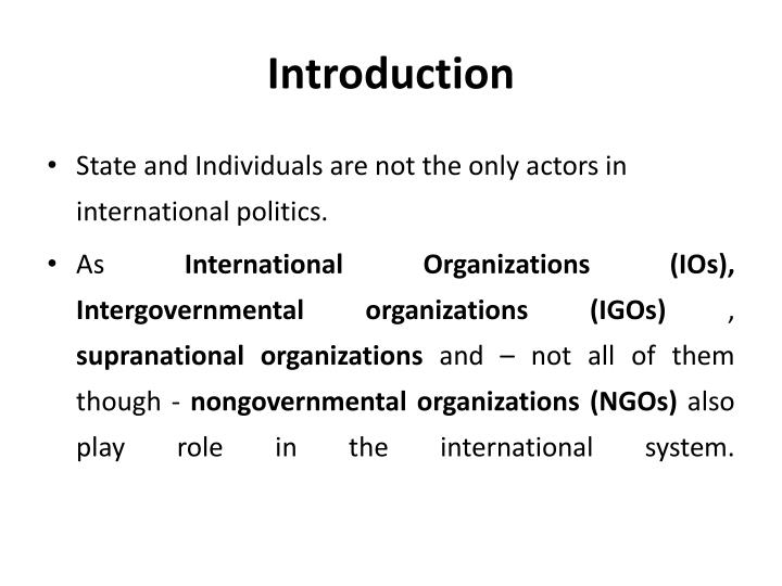 what roles do non governmental organizations play in international relations